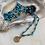 Thumbnail: Turquoise & Gold Saint Benedict Necklace