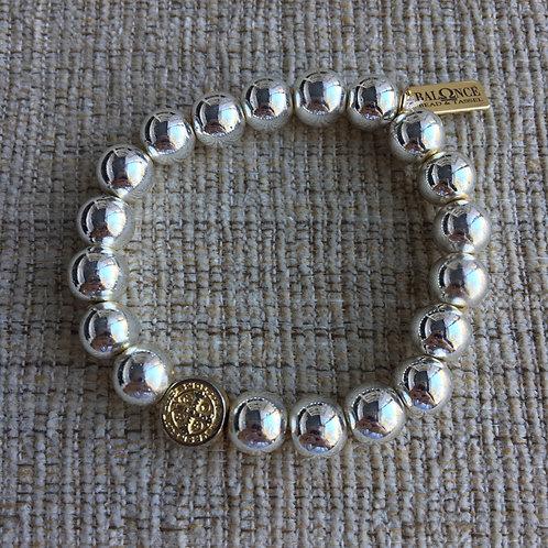 Silver Hematite St. Benedict Bracelet