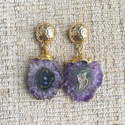 Amethyst Stalactite Earrings