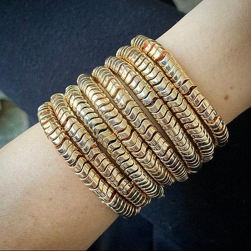 Golden Hematite Stacking Bracelets