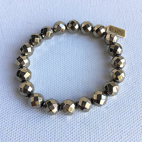 Faceted Pyrite Bracelet