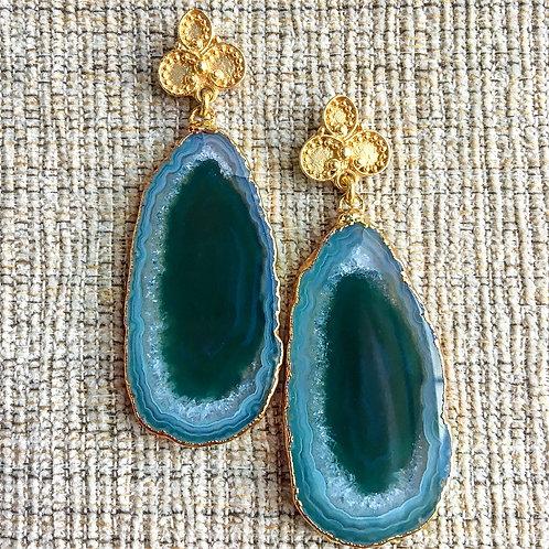 Bali Earrings in Green