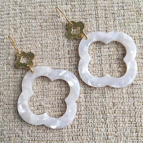 Acrylic Clover Earrings