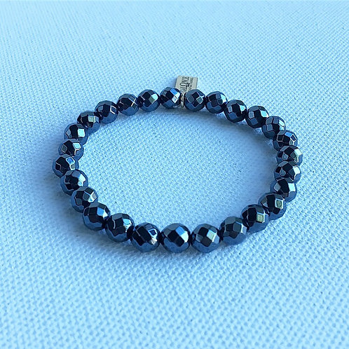 Faceted Hematite Bracelet
