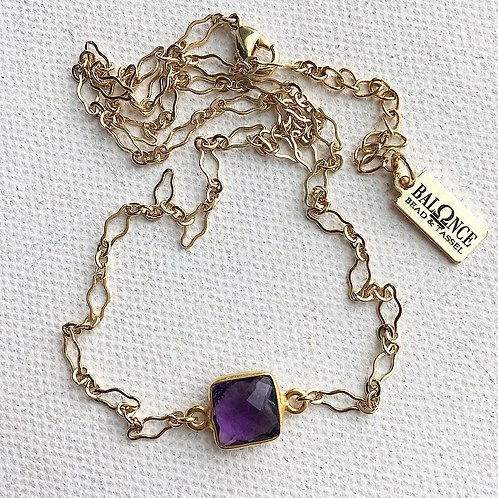 Lacey Amethyst Necklace