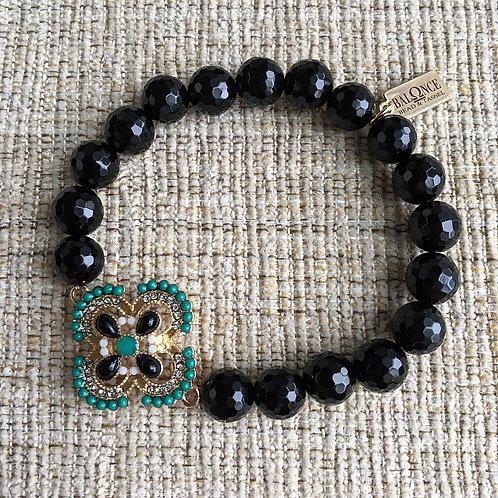 Black & Green Onyx Bracelet