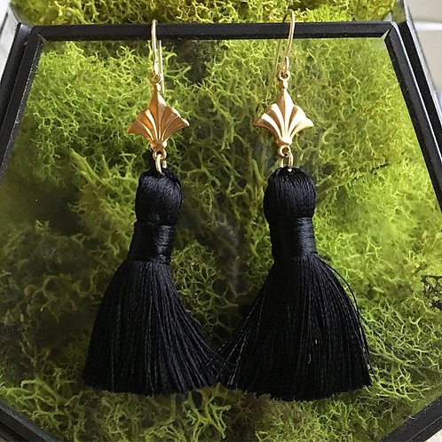 Black Nola Tassel Earrings