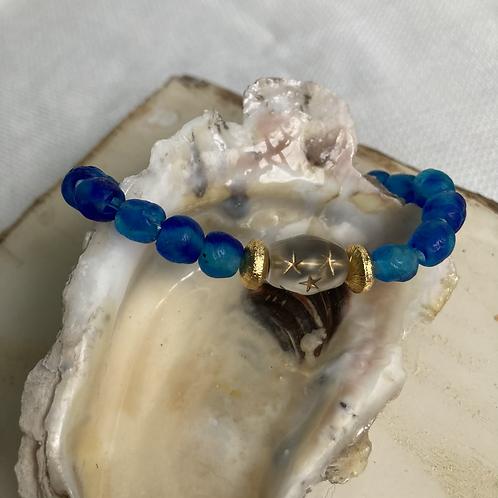 Royal Sea Glass Bracelet