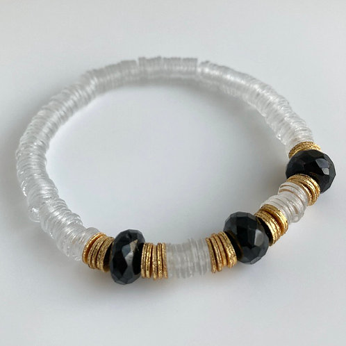 Black Onyx Clear Bracelet