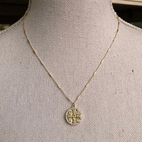 Vermeil Gold Saint Benedict Necklace