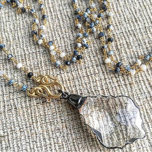Dendrite Opal & Crystal Signature Necklave