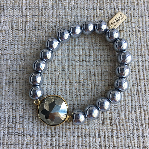 Hematite & Pyrite Bracelet