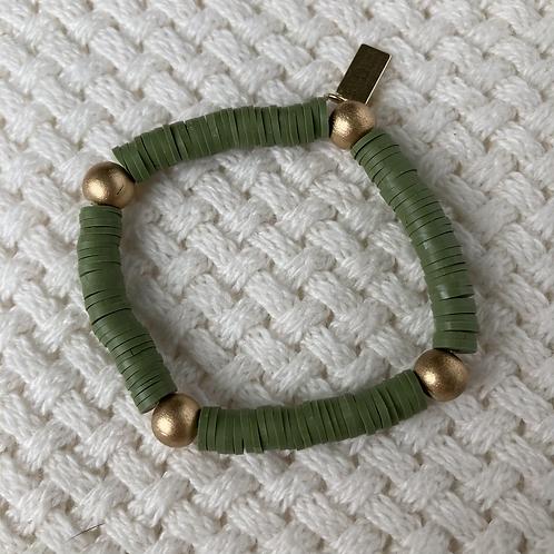 Olive Vinyl Accent Bracelet