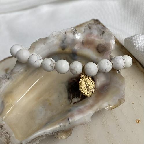Howlite Virgin Mother Bracelet