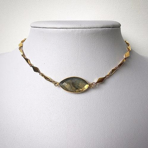 Classy Labradorite Choker Necklace