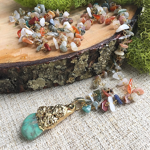 Chrysoprase & Multi-Gemstone Artisan Necklace
