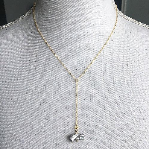 Vermeil & Keshi Pearl Lariat Necklace