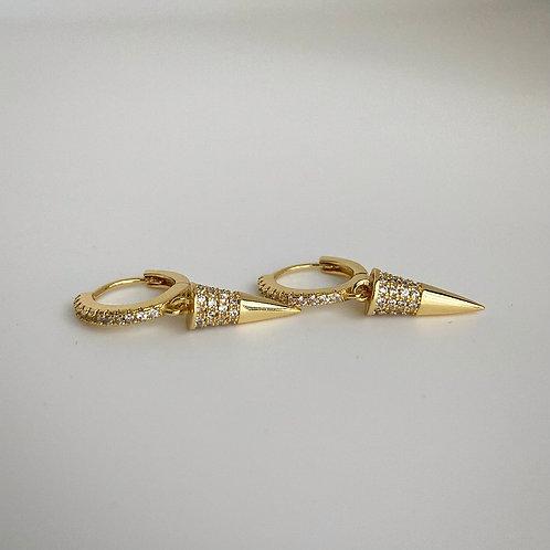 Pavè Spike Huggie Earrings