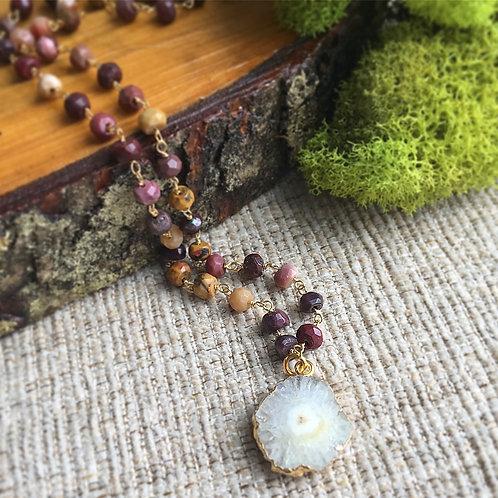 Mookaite & Solar Quartz Necklace