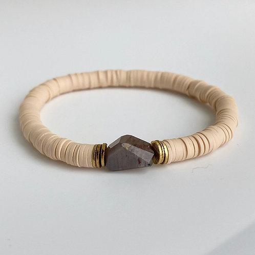 Nude Vinyl Moonstone Bracelet