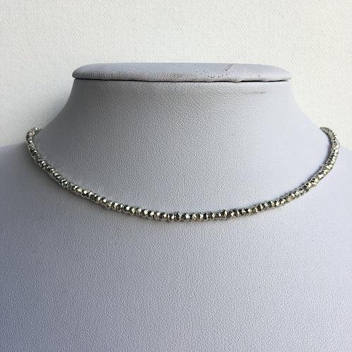 Dainty Silver Pyrite Choker