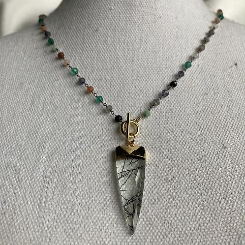 Multi Gem & Rutile Necklace