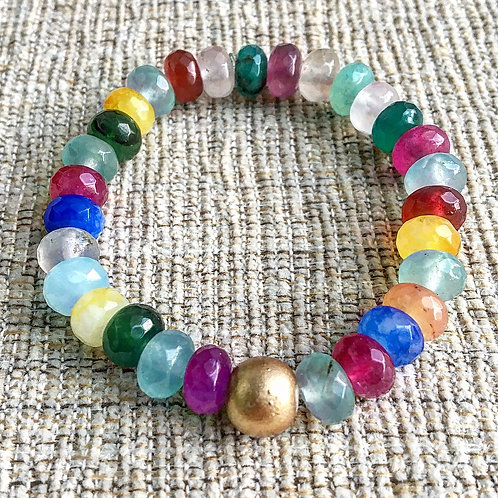 Mixed Gemstone Stacking Bracelets
