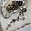 Thumbnail: Multi Pyrite Saint Benedict & Crucifix Necklace