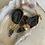 Thumbnail: Black Geode Huggie Earring
