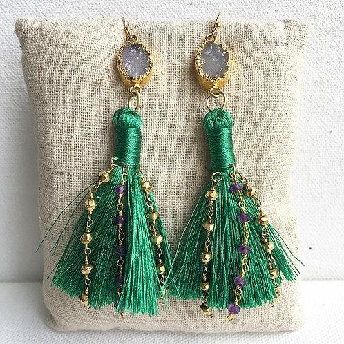 Throw Me Something Green Earrings