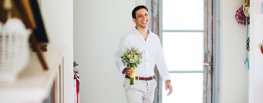 חתן מתוך חתן וכלה ביום חתונתם (: