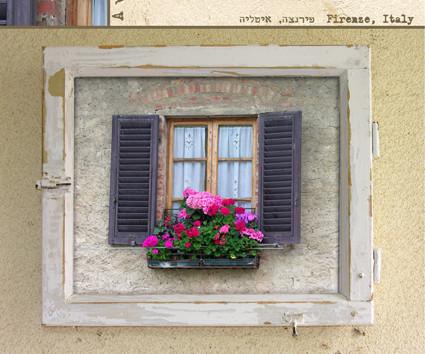 """צילום מקורי שלי שהפך לתמונת חלון- """"פירנצה"""""""