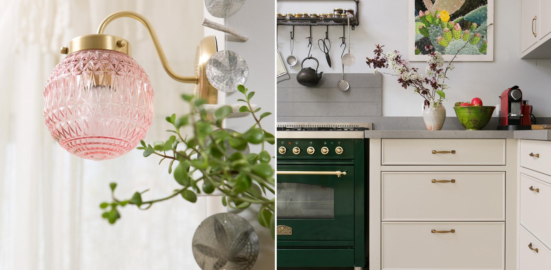 צבעוניות ייחודית מתלבת בעיצב המטבח