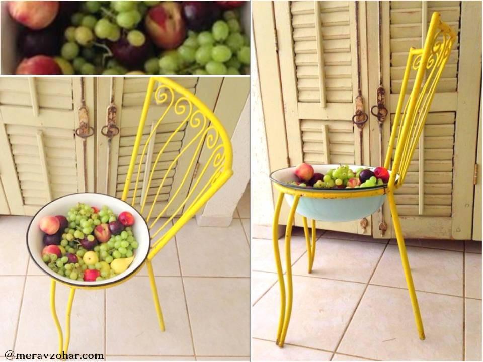 כסא ישן שהפך לקערה