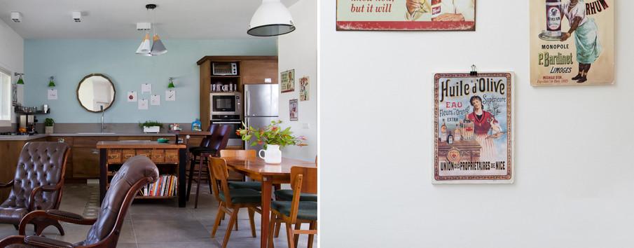 אוסף שנתלה על קיר המטבח