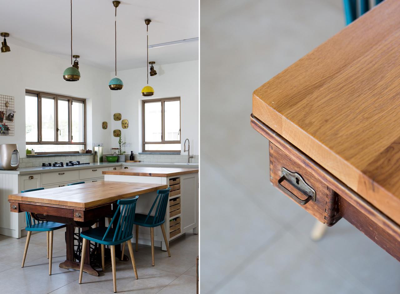 מכונת התפירה הוסבה לשולחן המטבח