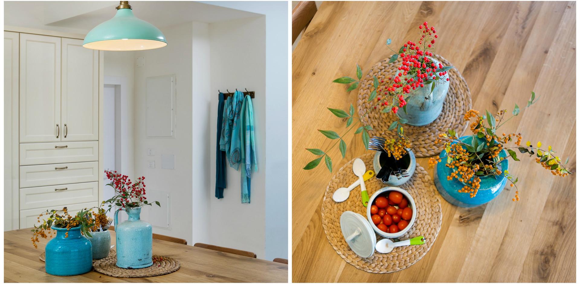 פריטי עיצוב שמקשטים את בית הלקוח- יצירות של בני המשפחה