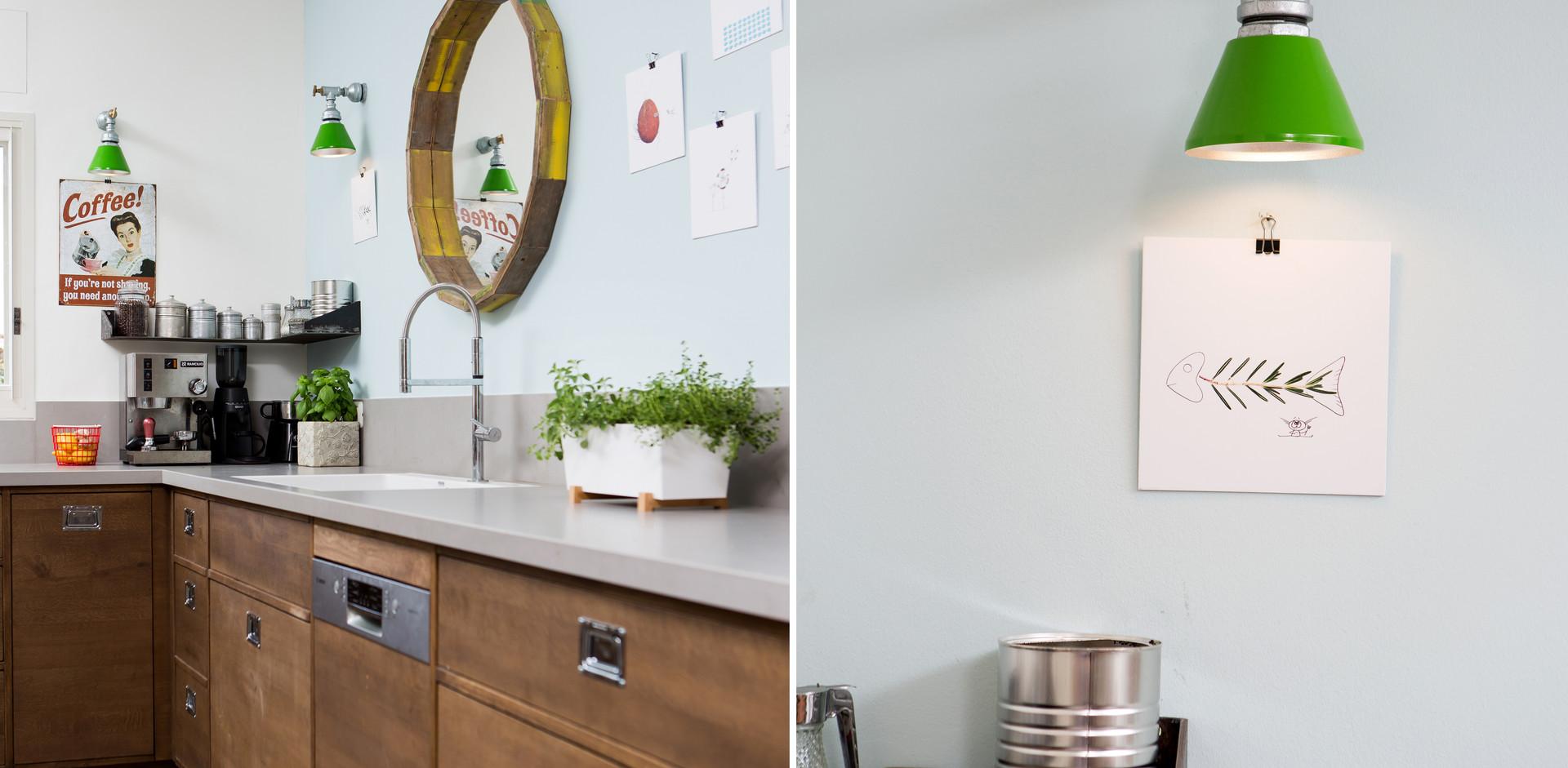 גם תאורה הותאמה לרוח המטבח