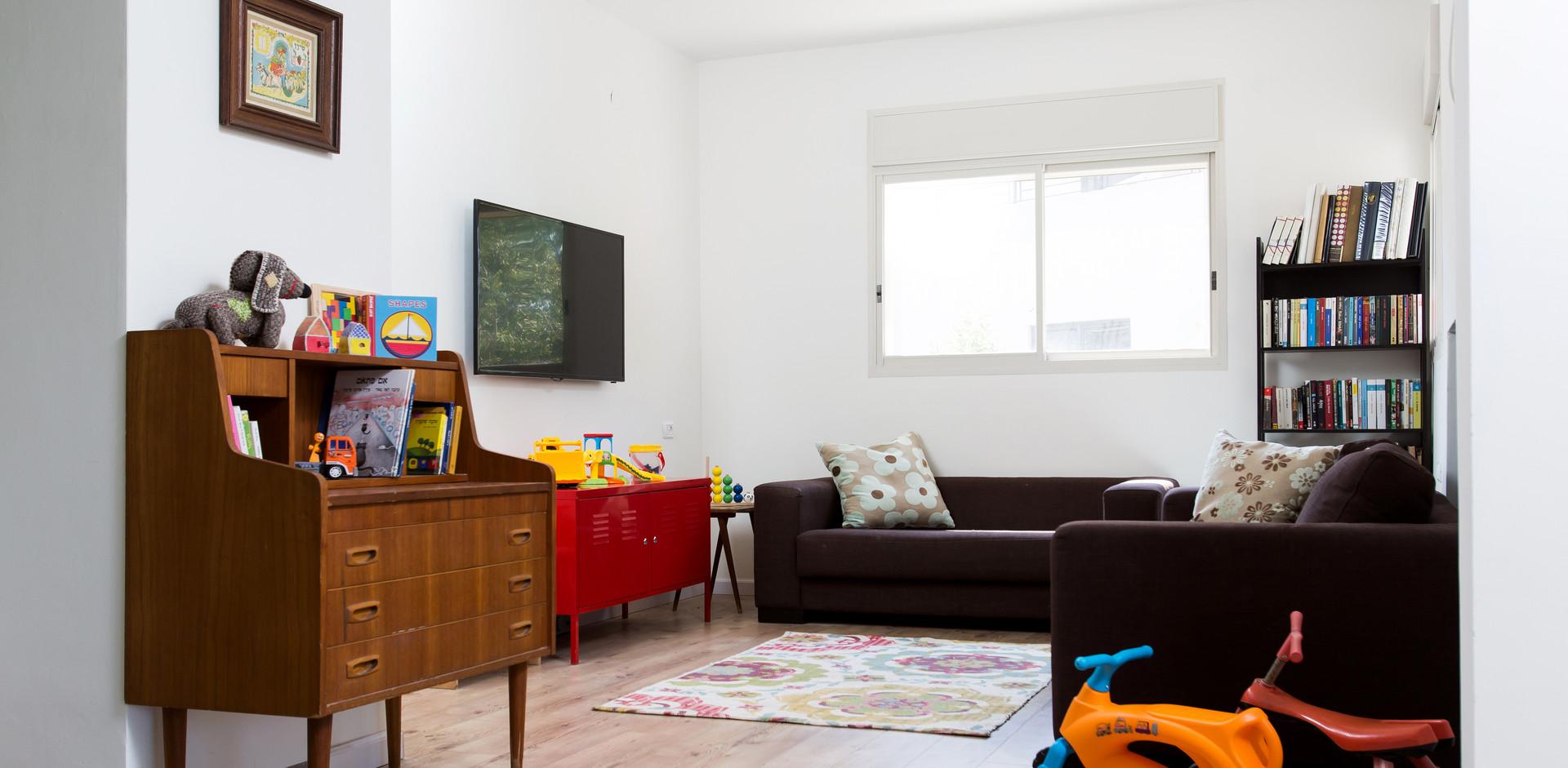 חדר המשפחה. בעתיד יהפוך לחדר ילדים נוסף