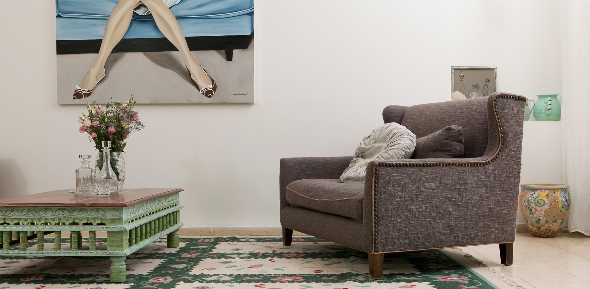 יצירה ישראלית משתלבת בעיצוב חלל הבית