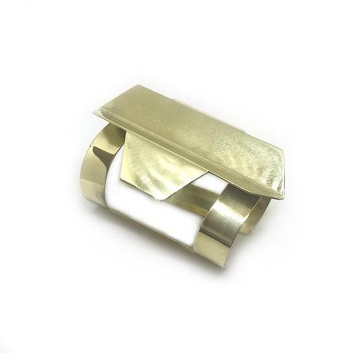 Brazalete MARMOL ondulado dorado