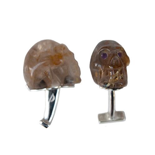 Gemelos DANDY skull amathyst