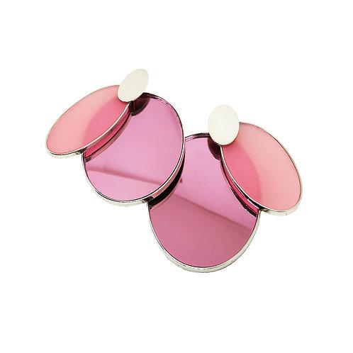 aros XI ovalo rosa