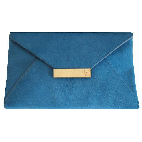 Furry Leather Light Blue