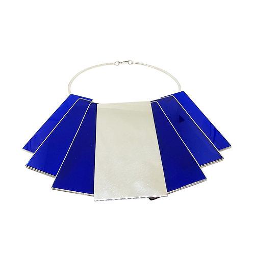 Collar XI rectangulos azul