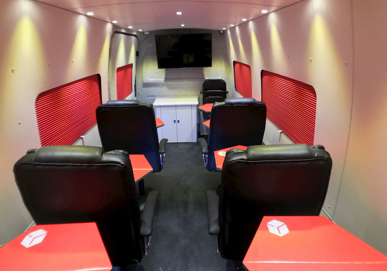 Natural Born Campers. Camper van conversions in South Manchester. Long Wheelbase Mercedes Sprinter Training Van.
