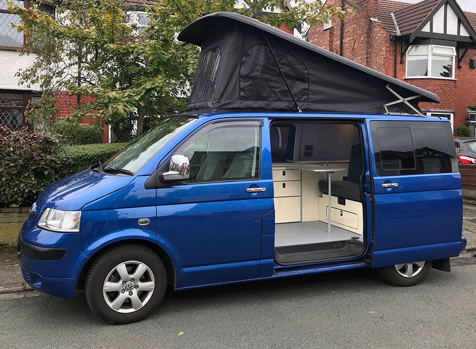 Natural Born Campers. Camper van conversions in South Manchester. Volkswagen T5 Kombi Camper Van.