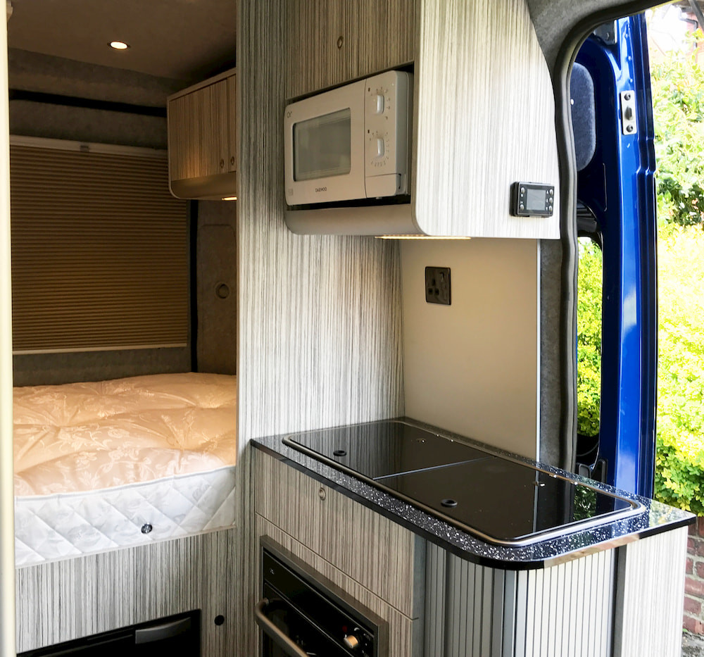 Natural Born Campers. Camper van conversions in South Manchester. Citroen Relay L2H2 medium wheelbase camper van.