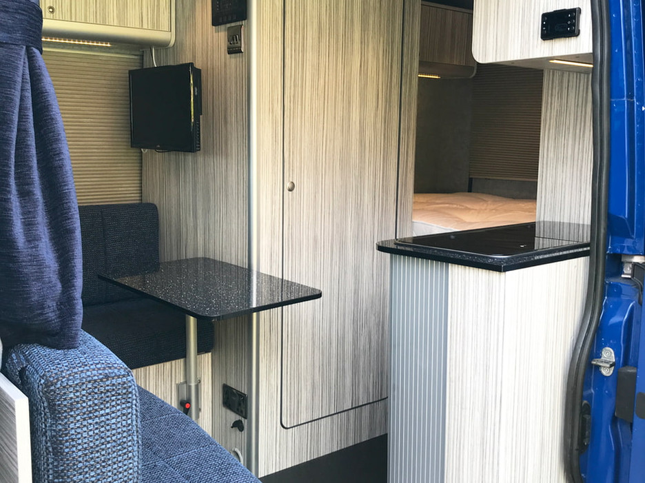 Natural Born Campers. Camper van conversions in South Manchester. Citroen Relay L2H2 medium wheelbase camper van.
