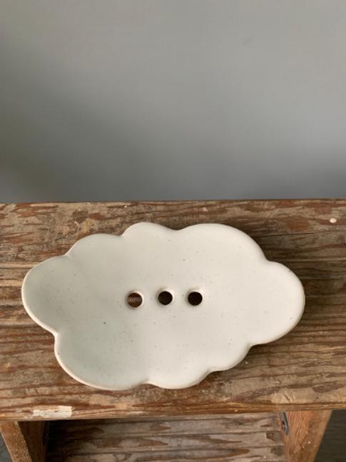 Handmade Ceramic Cloud Soap Dish